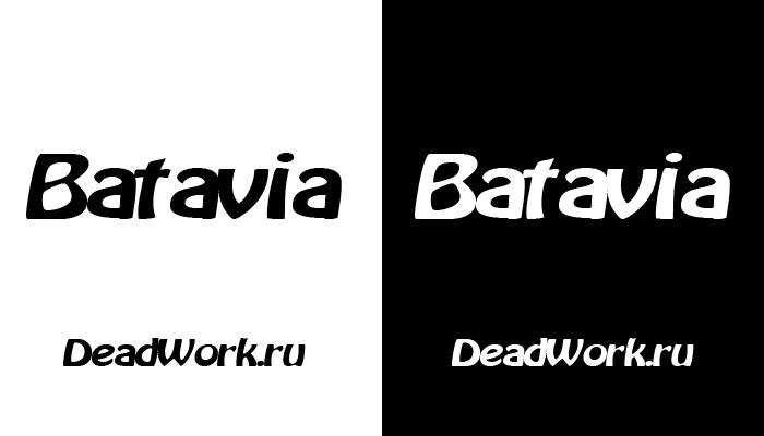 Скачать шрифт Batavia (ENG)