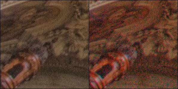 Хроматический цифровой шум изображения