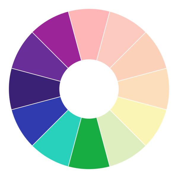 Цветовой круг дизайнера: Холодные цвета