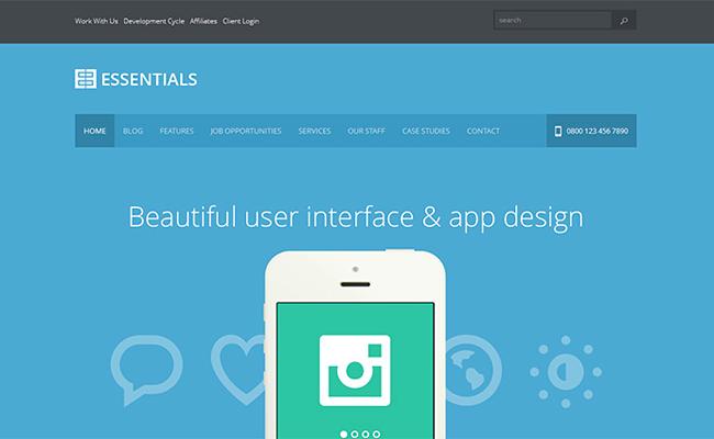 Плоский дизайн сайта