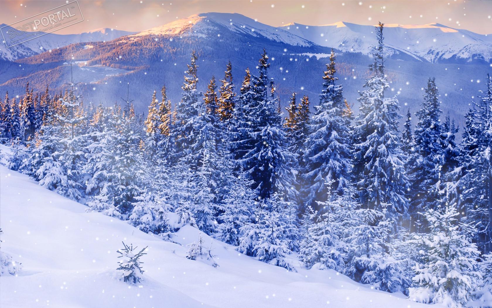Зимний пейзаж с возвышенности
